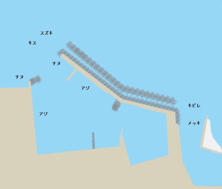 戎漁港ポイント図