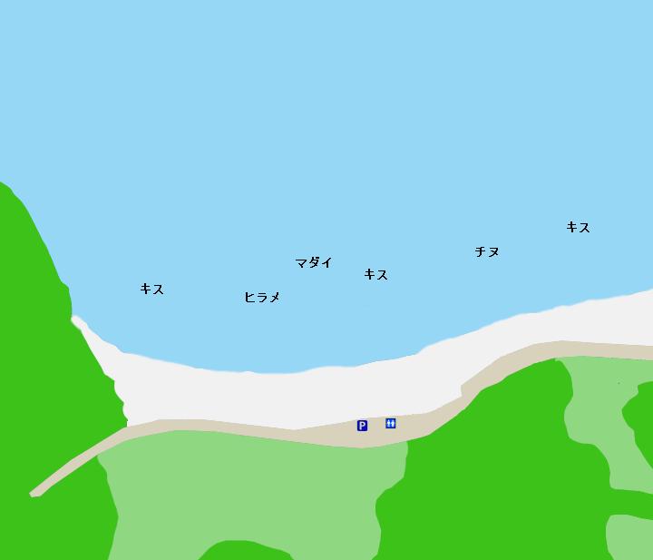 船越海岸ポイント図