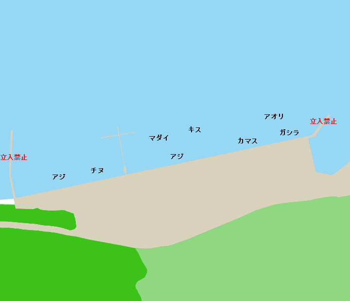 古江漁港ポイント図