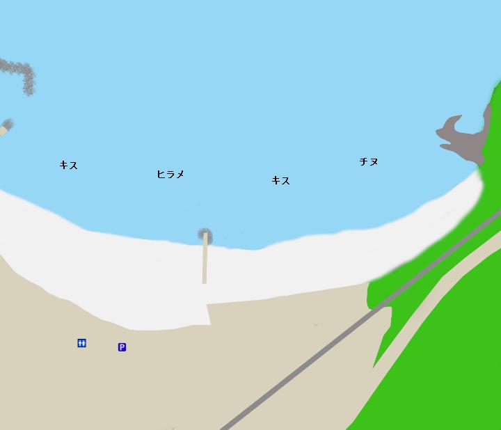 古里海岸ポイント図