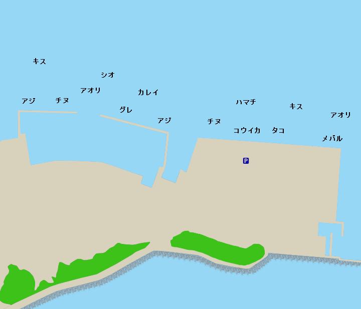 浜島漁港ポイント図