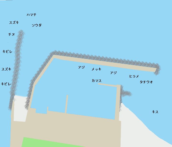 浜ノ瀬漁港ポイント図