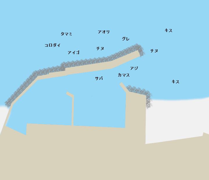 埴田漁港ポイント図