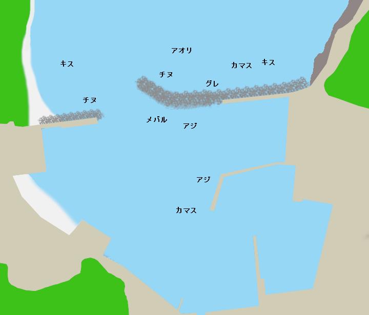 比井漁港ポイント図