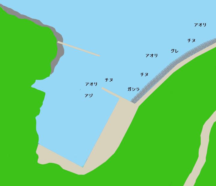 甫母新港ポイント図