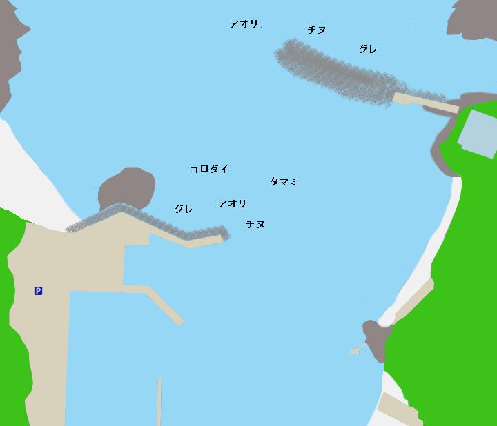 市江漁港ポイント図