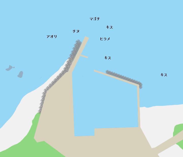伊串漁港ポイント図