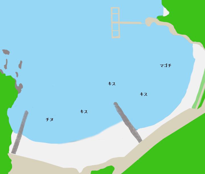 城ノ浜ポイント図