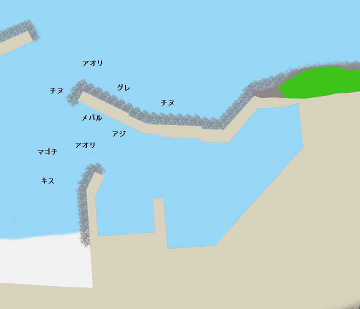 海野漁港ポイント図