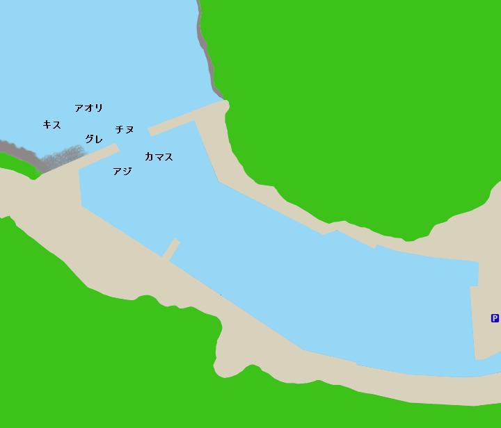 梶賀漁港ポイント図