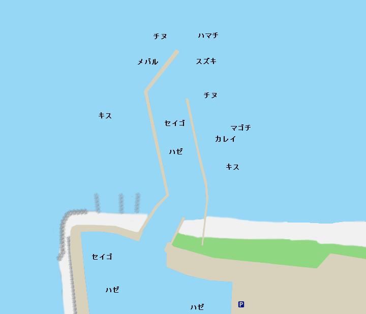 香良洲漁港ポイント図
