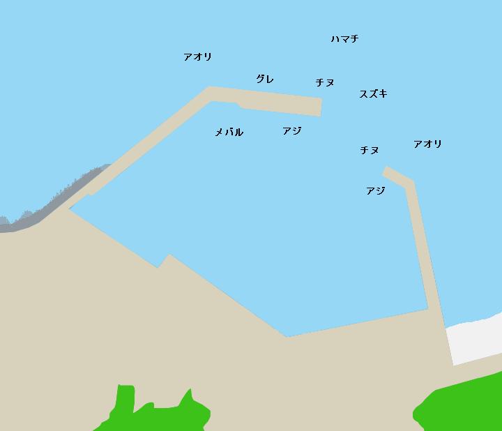 片田漁港ポイント図