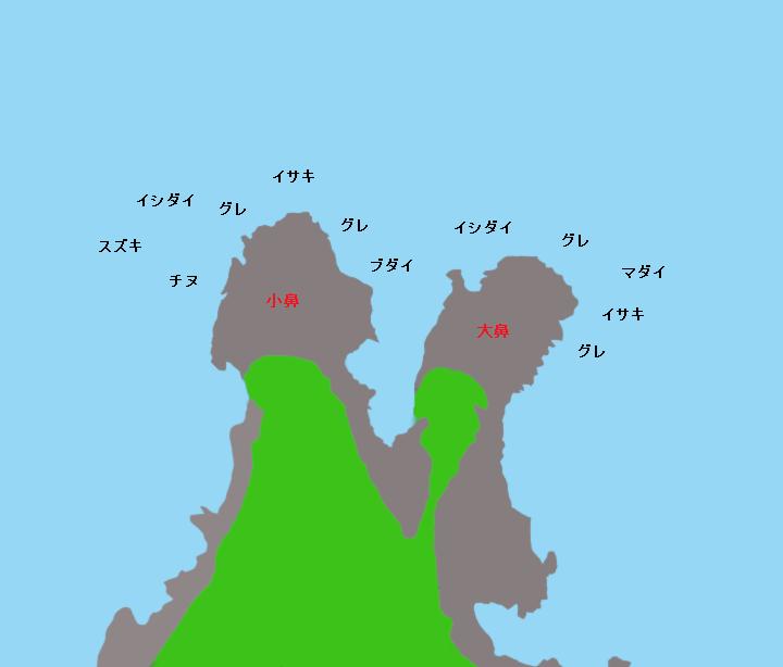 神須ノ鼻ポイント図