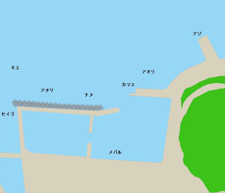 古和浦漁港ポイント図