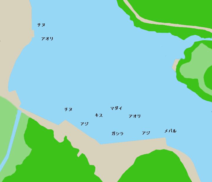 九鬼漁港ポイント図