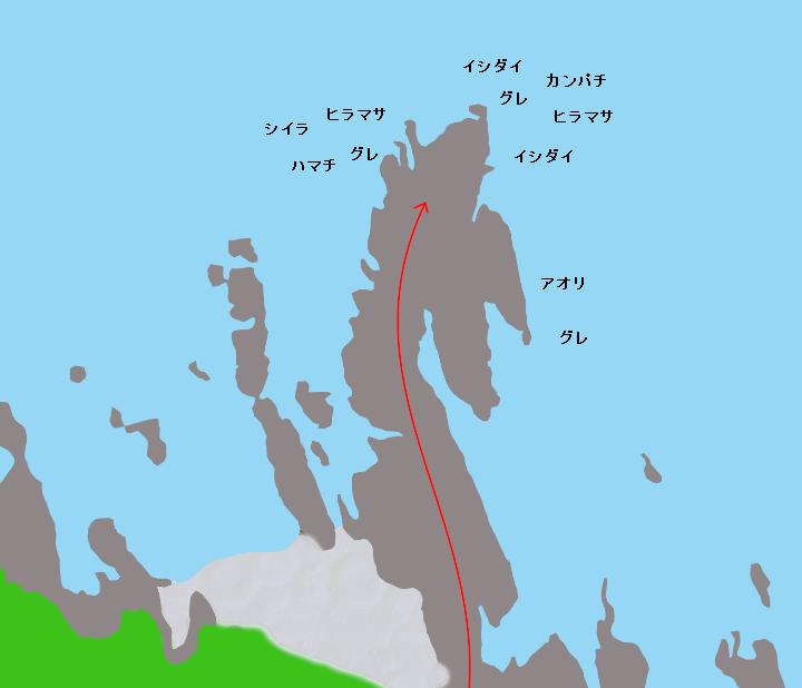 クレ崎ポイント図