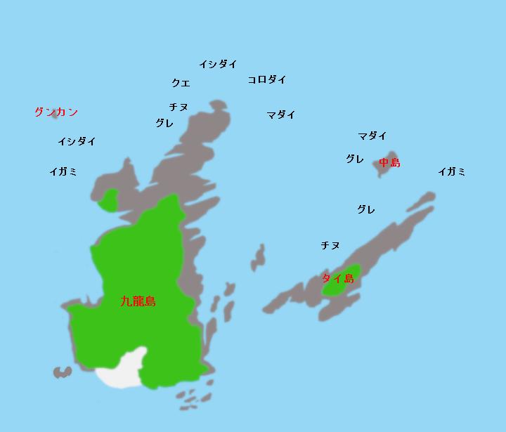 九龍島ポイント図