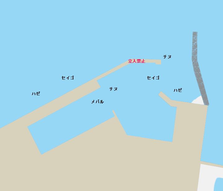 松ヶ崎漁港ポイント図