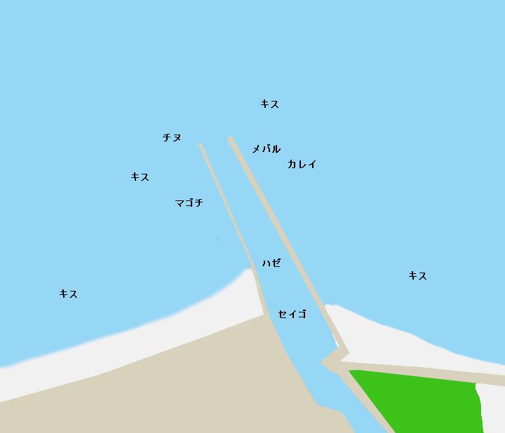 村松漁港ポイント図