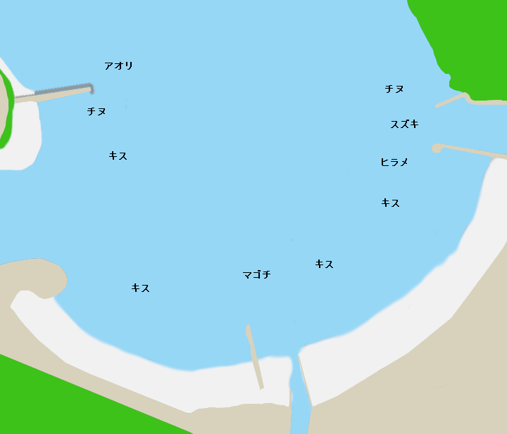 三木里海水浴場ポイント図