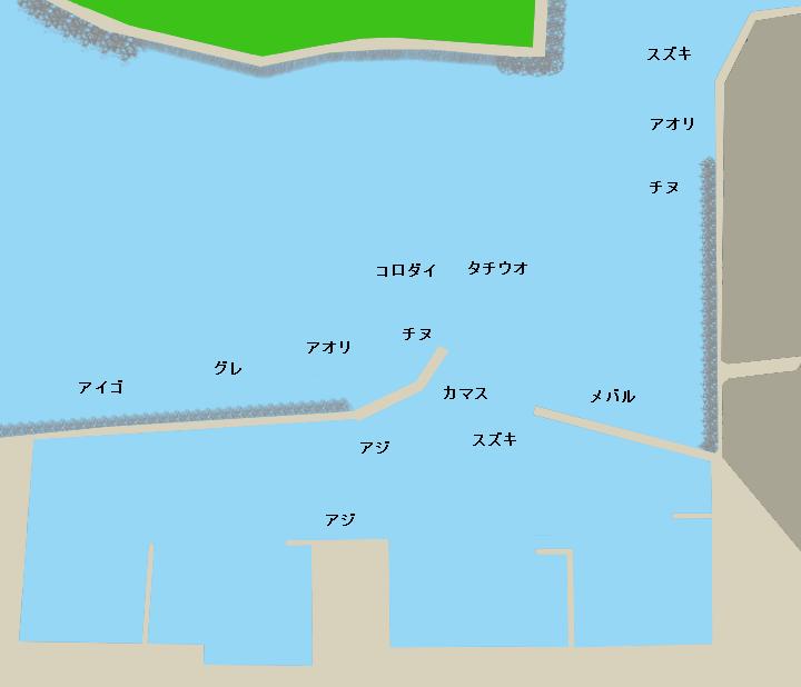 南塩屋漁港ポイント図