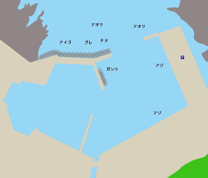 見老津漁港ポイント図