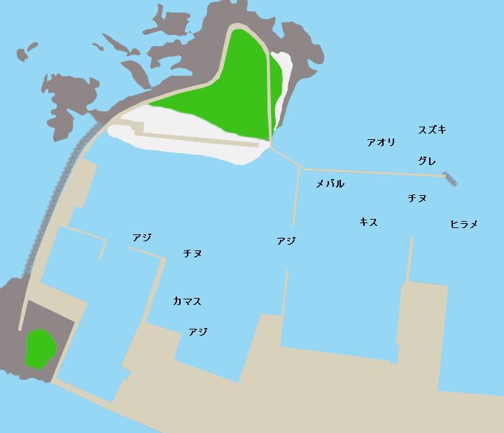 三輪崎漁港ポイント図