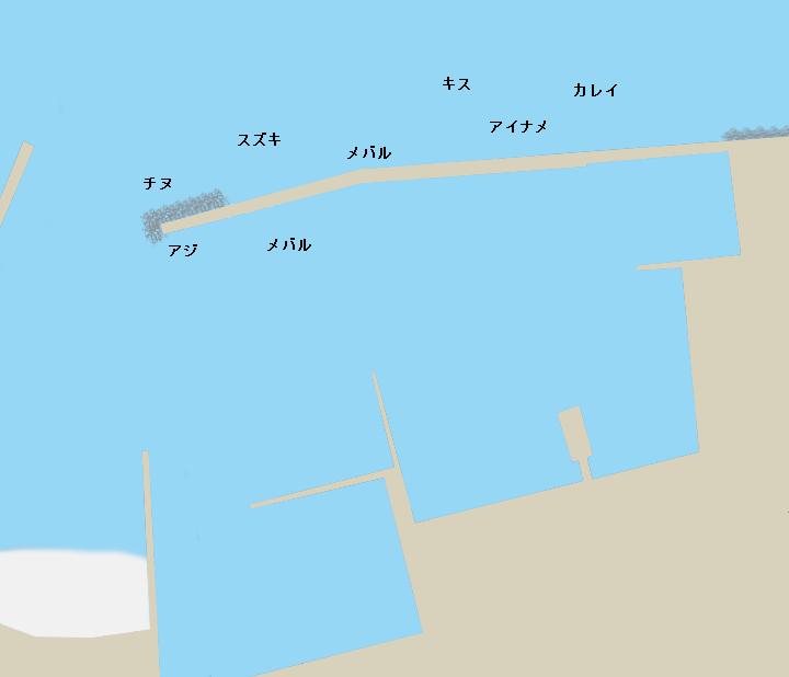 桃取港ポイント図