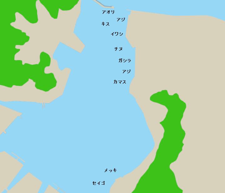 文里港ポイント図