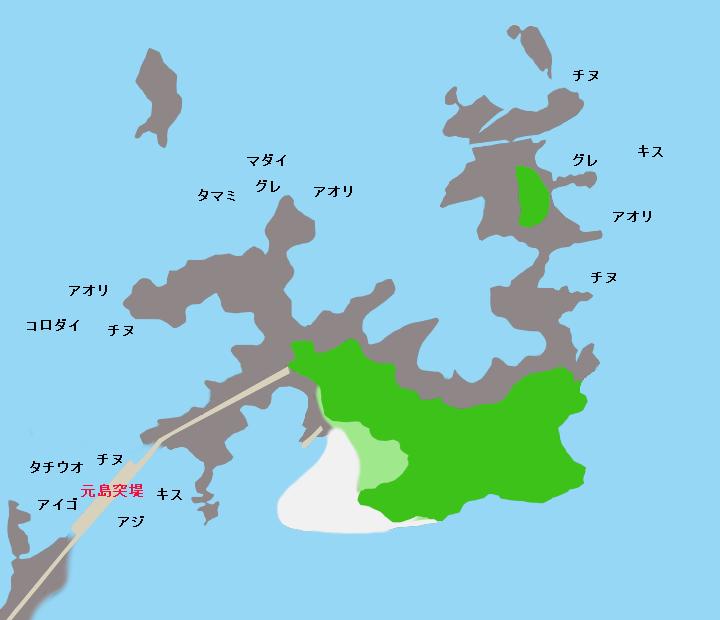 元島ポイント図