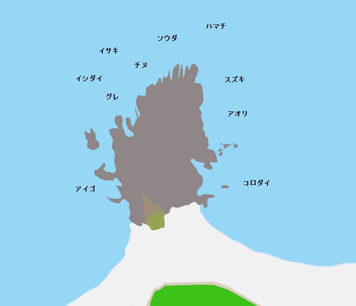 村島磯ポイント図