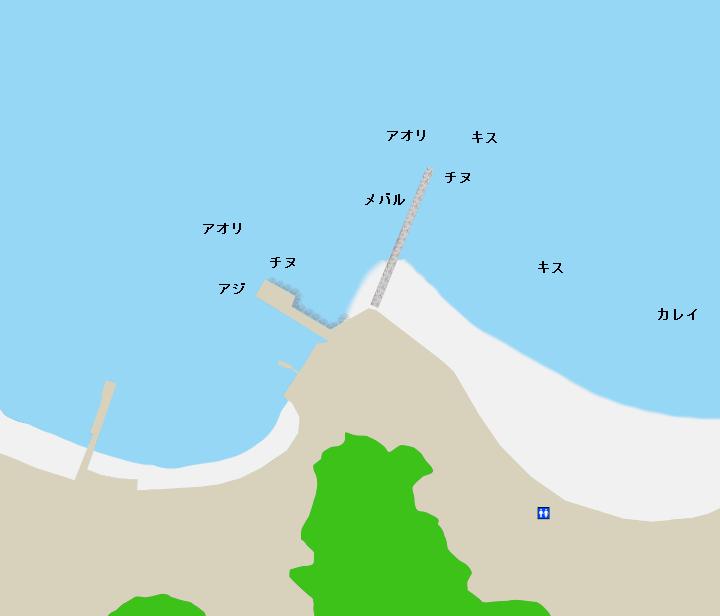 中津浜浦海浜公園ポイント図