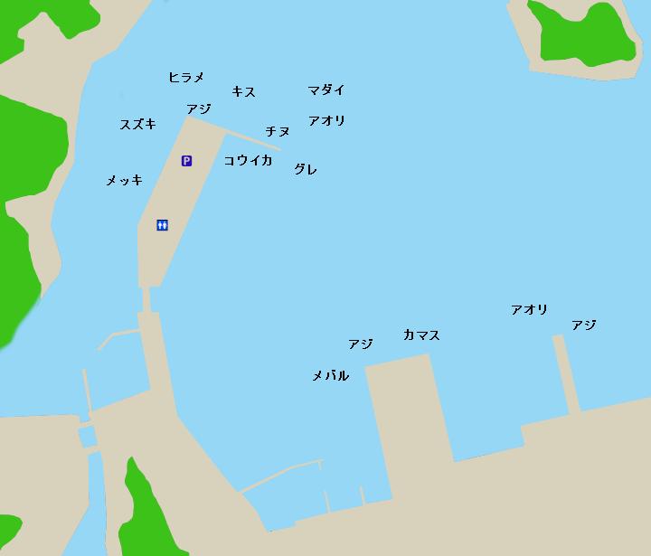 勝浦港(和歌山、那智)ポイント図