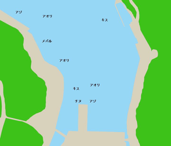 二木島漁港ポイント図
