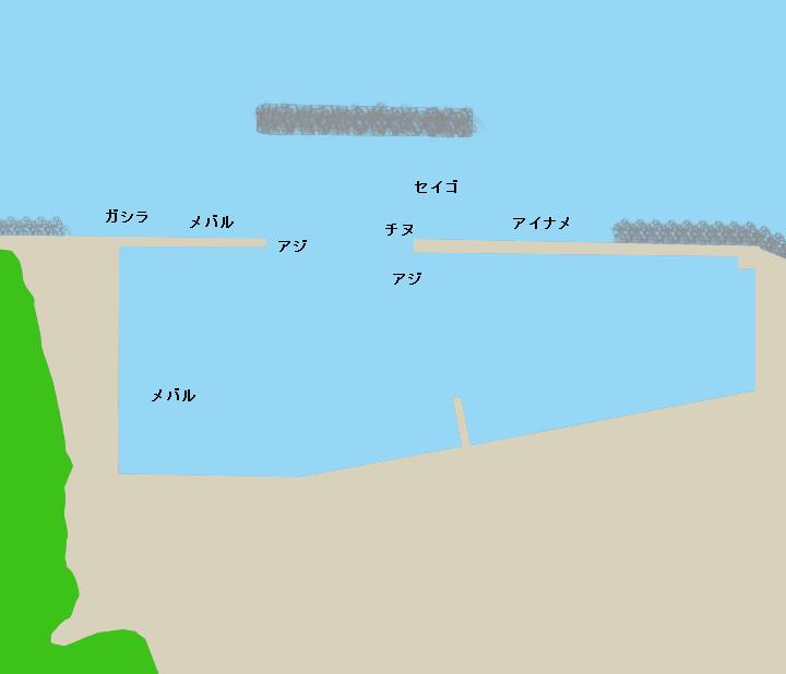 小浜漁港ポイント図