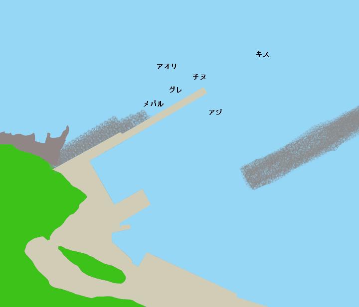 小杭漁港ポイント図