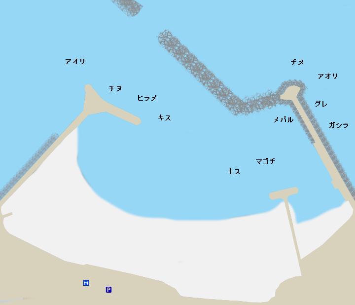 大矢浜ポイント図