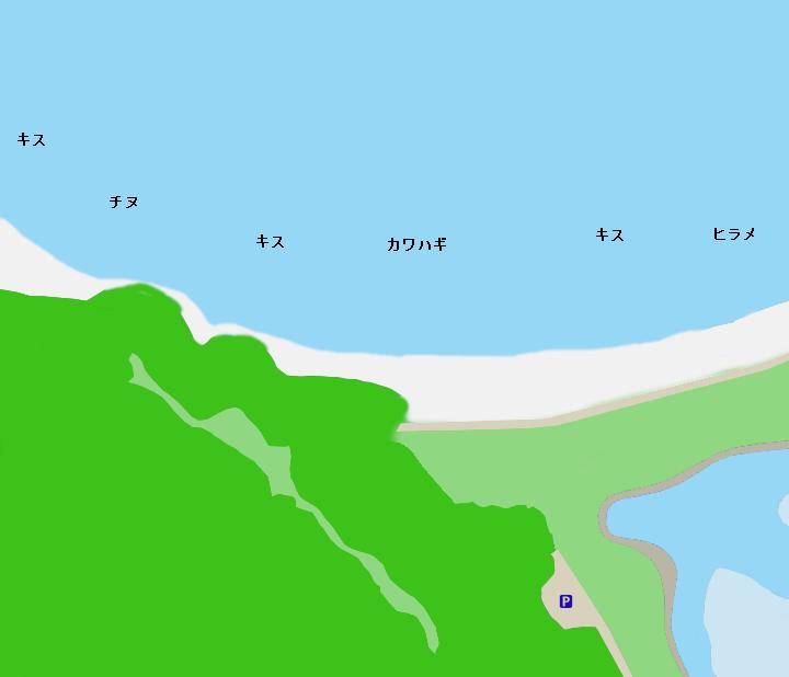 大白海岸ポイント図