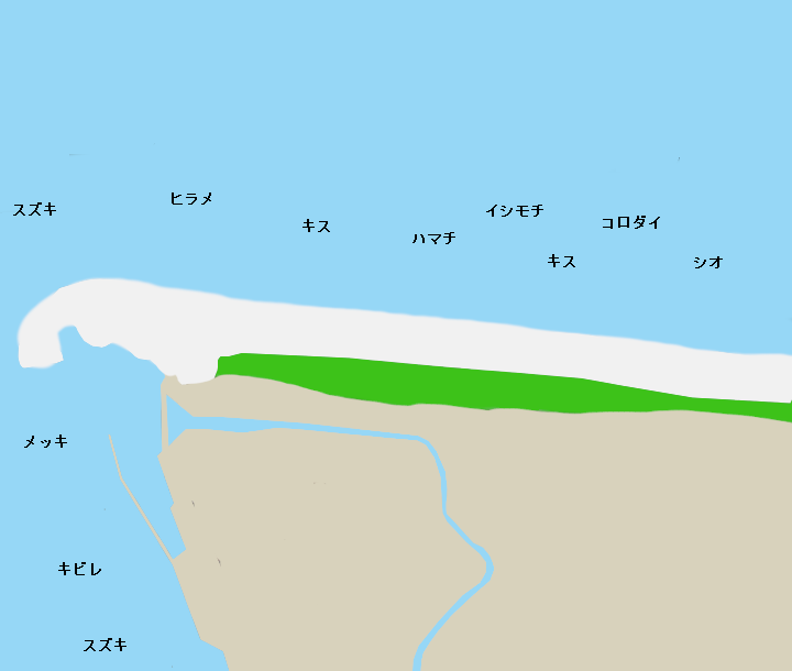 王子ヶ浜ポイント図