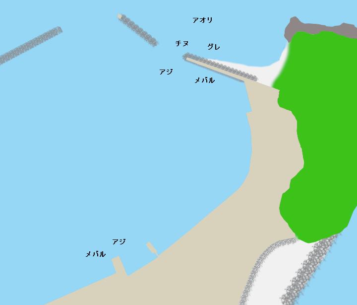 礫浦漁港ポイント図
