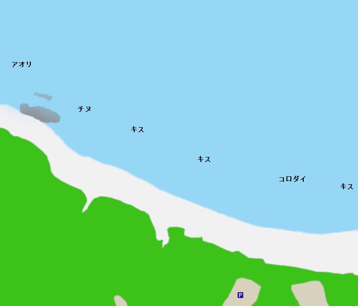 千里海岸ポイント図