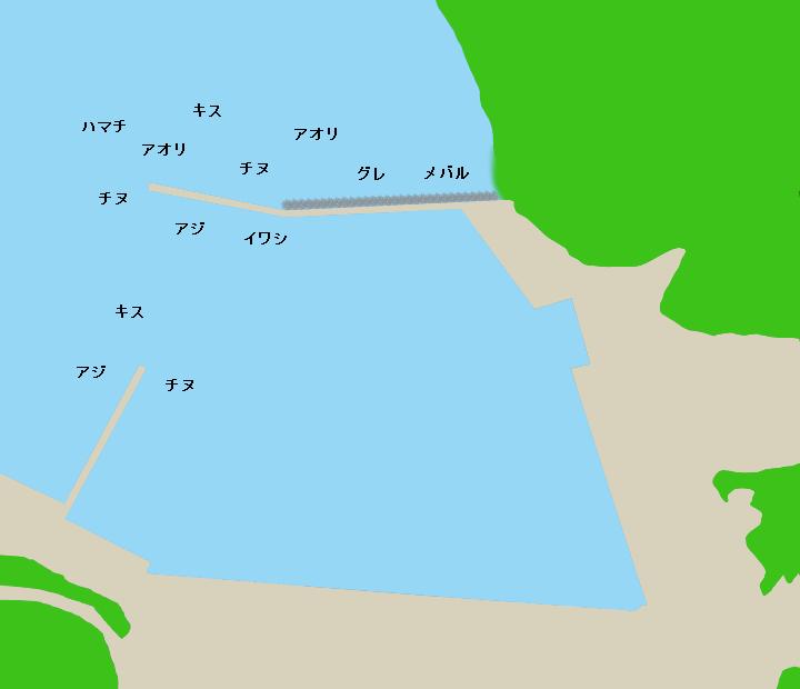 島勝浦漁港ポイント図