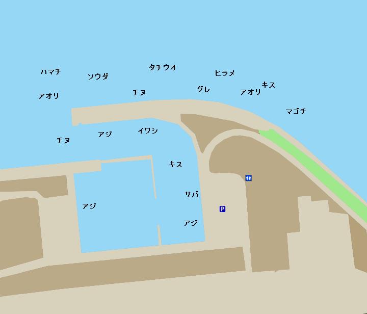 芳養漁港ポイント図