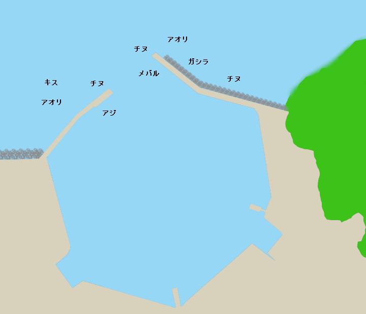白浦漁港ポイント図
