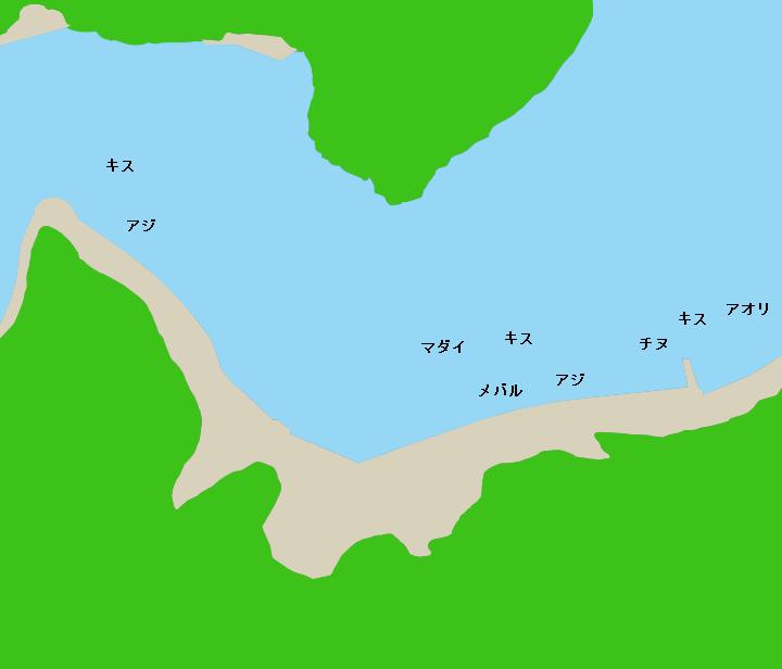 須賀利漁港ポイント図