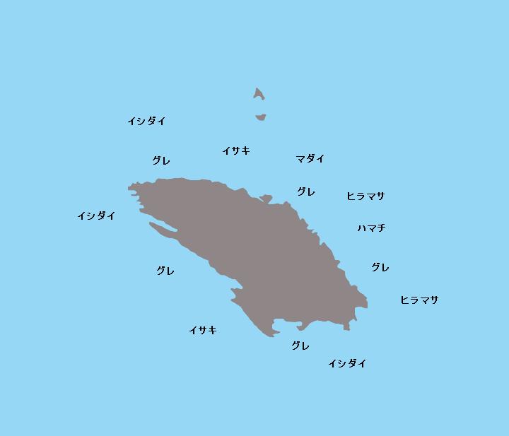 鈴置島ポイント図