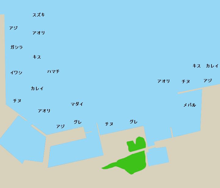 宿田曽漁港ポイント図