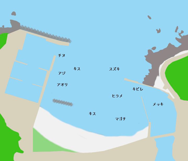 田原漁港ポイント図