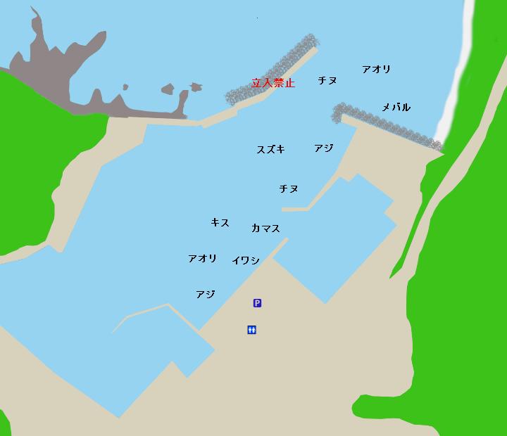太地港ポイント図