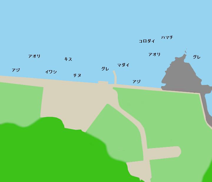 太地くじら浜公園ポイント図